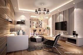 精美88平米混搭小户型客厅效果图