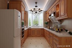 热门107平米三居厨房美式装修欣赏图