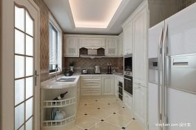 2018面积98平欧式三居厨房装饰图片大全