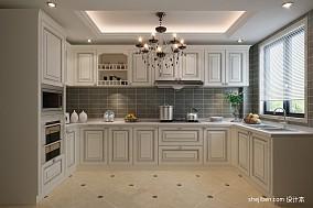 热门面积105平欧式三居厨房装修图