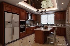 热门面积109平美式三居厨房效果图片大全