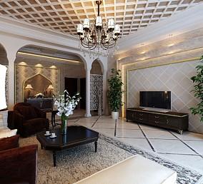 精美138平米四居客厅欧式装饰图片