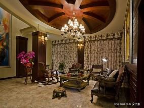 面积129平别墅客厅混搭装饰图片欣赏