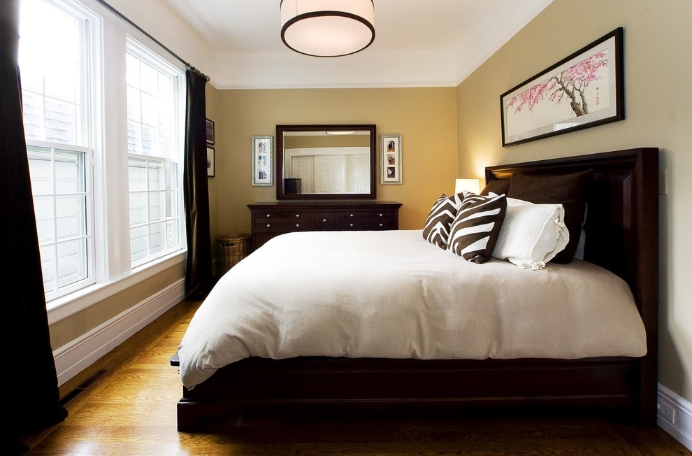 bedroom color schemes with brown furniture 美式主卧室装修效果图 土巴兔装修效果图 20238