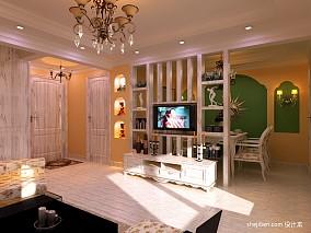 热门面积88平混搭二居客厅装修设计效果图