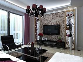 精选102平米三居客厅新古典装修实景图片欣赏