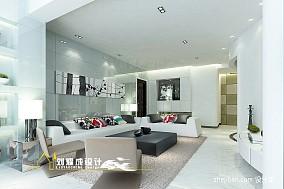 热门面积132平混搭四居客厅装饰图片