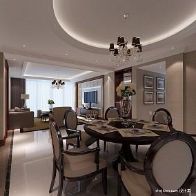90平米二居餐厅混搭装修设计效果图