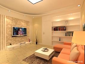 热门74平方二居客厅混搭装修图