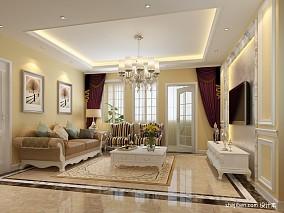 热门96平米三居客厅混搭实景图片