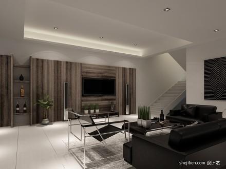 133平米混搭别墅客厅装修实景图片欣赏