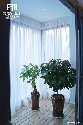 精美面积109平混搭三居阳台效果图片欣赏