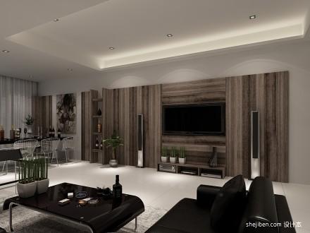 125平米混搭别墅客厅装修设计效果图60m²以下别墅豪宅潮流混搭家装装修案例效果图