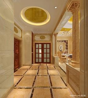 热门125平米欧式别墅玄关装修图片欣赏别墅豪宅欧式豪华家装装修案例效果图