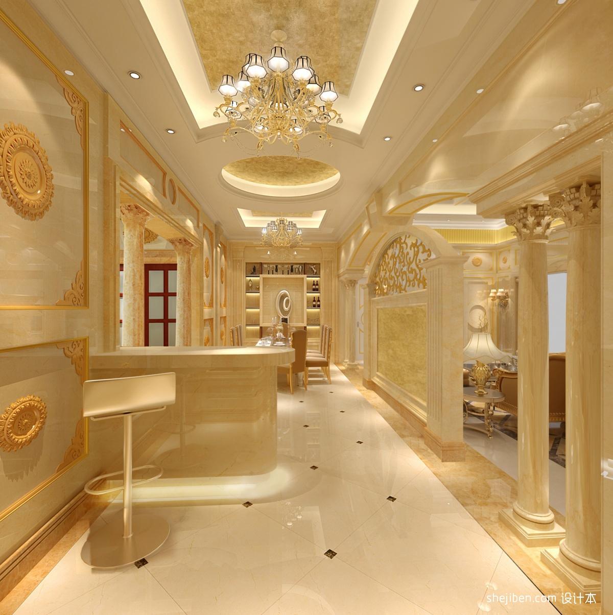 热门面积142平别墅餐厅欧式效果图片欣赏别墅豪宅欧式豪华家装装修案例效果图