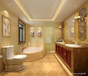 精美131平米欧式别墅卫生间装修图别墅豪宅欧式豪华家装装修案例效果图