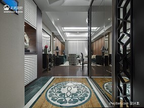2013欧式风格进门经典时尚玄关镜子地砖拼花