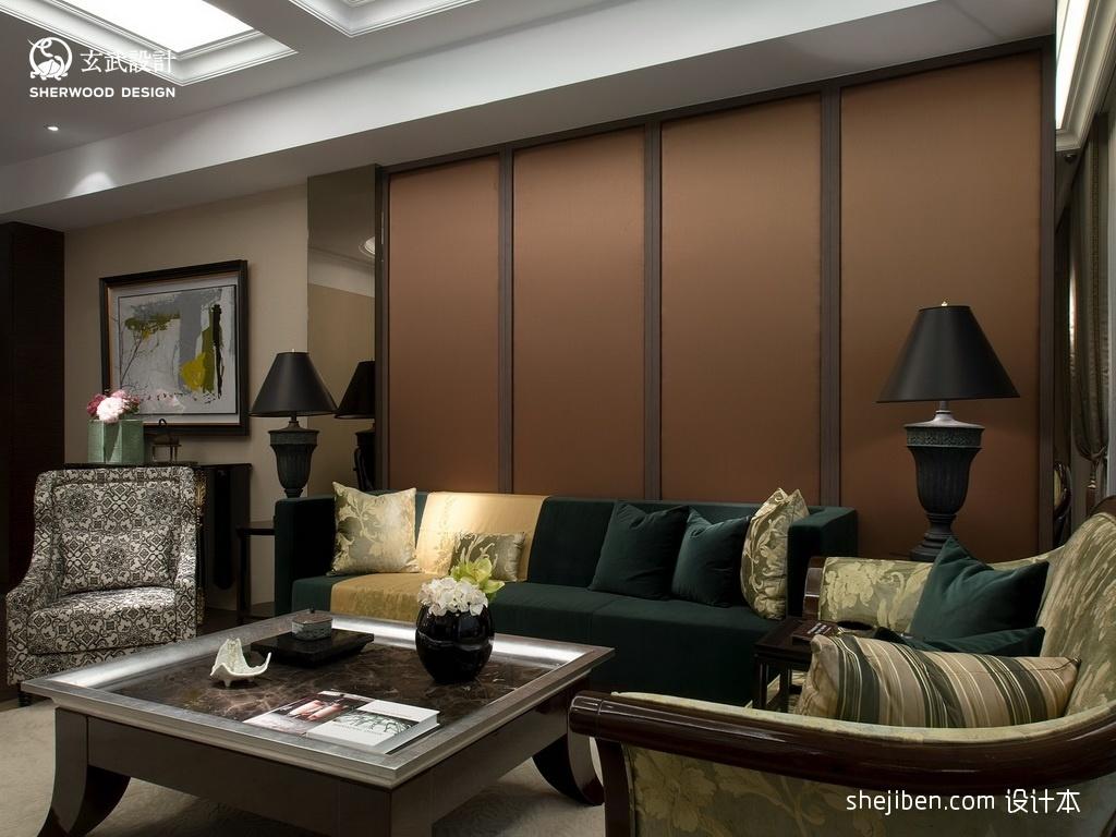 简欧风格客厅台灯设计图功能区2图其他功能区设计图片赏析
