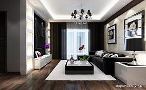 精选94平米3室客厅混搭装修设计效果图片欣赏
