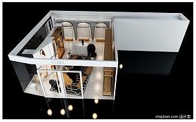 白色实木厨柜效果图