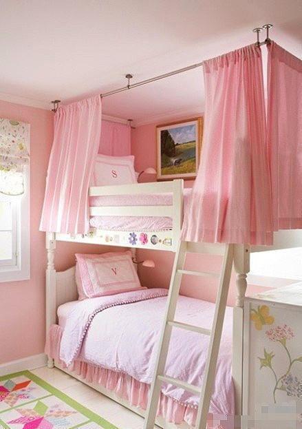 粉红女孩卧室效果图