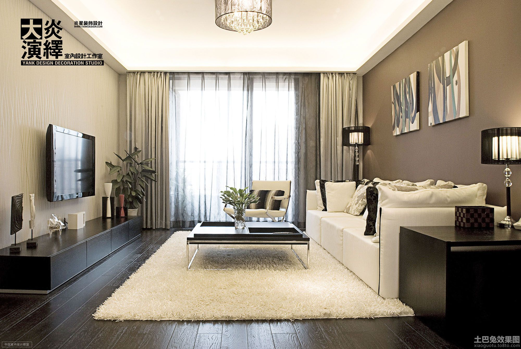 interior design pictures of small living rooms 现代简约客厅影视墙设计 土巴兔装修效果图 27769