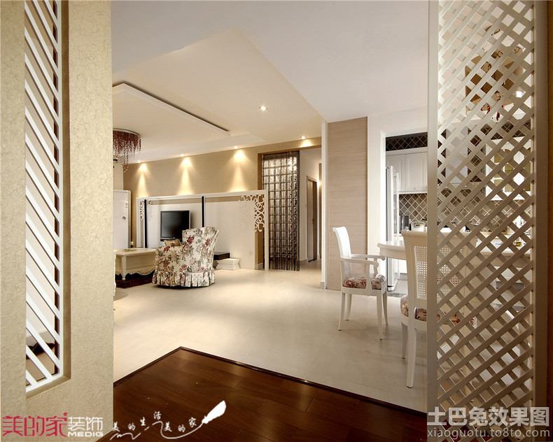 ideas for floor to ceiling partitions - 木屏风隔断效果图 土巴兔装修效果图