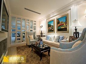 精美面积84平小户型客厅欧式装修设计效果图片大全