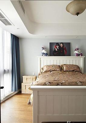 二居卧室地中海装修实景图片