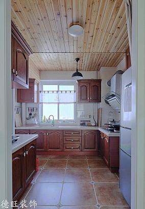 小户型厨房美式装修实景图片欣赏