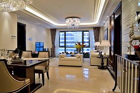 2018精选90平大小客厅三居现代装修设计效果图片欣赏