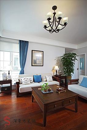 精选中式一居客厅装修设计效果图片欣赏