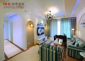 精美小户型客厅地中海装修实景图片