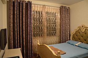 欧式卧室窗帘装修效果图片大全
