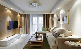 精美86平米二居客厅简约效果图片欣赏