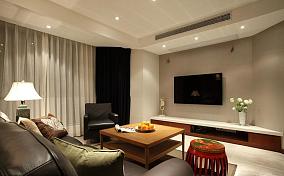 混搭风格客厅电视背景墙效果图