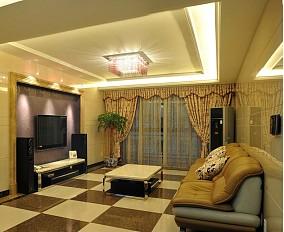 201875平米二居客厅欧式装修设计效果图