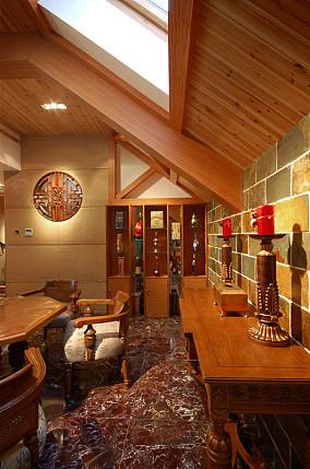 热门144平米中式别墅休闲区装饰图片