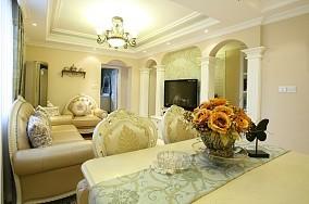 2018精选面积73平小户型客厅欧式装修设计效果图片大全