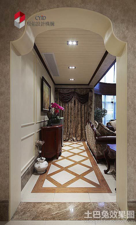 进门过道过道走廊地板室内设计玄关 www.thetupian.com