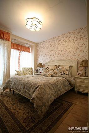 欧式田园风格三室两厅卧室装修效果图