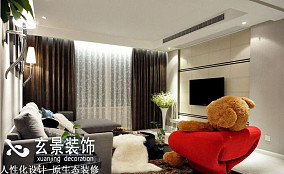 70平米简约小户型客厅装修效果图