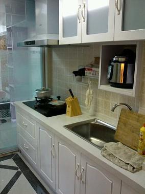 热门面积74平小户型厨房简约实景图片欣赏