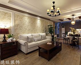 美式客厅沙发背景墙装修效果图