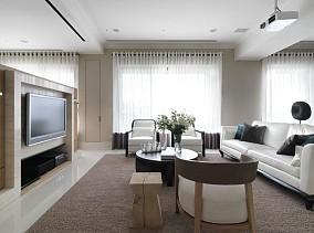 精美面积84平小户型客厅简约装饰图片