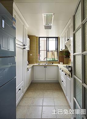 欧式家庭厨房集成吊顶效果图