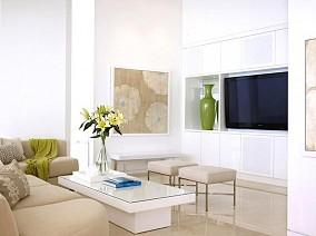 精选124平米简约复式客厅设计效果图