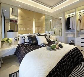 现代风格黑白卧室背景墙效果图