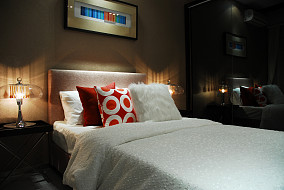 现代风格卧室背景墙装修效果图片大全