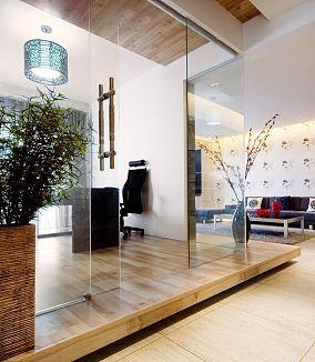 现代简约风格玻璃推拉门效果图